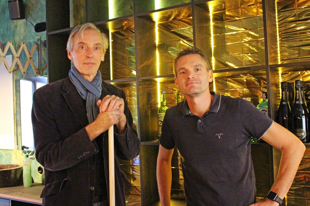 Peter Stellwag (Archtitekt) und Micha Kaiser (Besitzer)